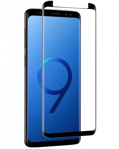 Folie sticla curbata Full Glue Samsung Galaxy S9, Negru