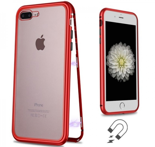 Husa 360 Magnetic Case pentru iPhone 8 Plus, Red