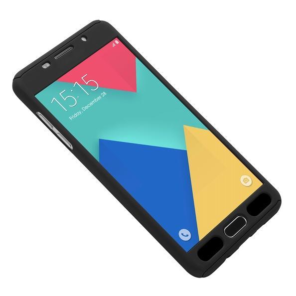 Husa Full Cover 360 (fata + spate + geam sticla) pentru Samsung Galaxy A7 (2016), Negru