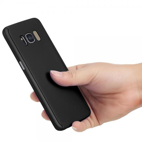 Husa Full Cover 360 (fata + spate) pentru Samsung Galaxy S8 Plus, Negru