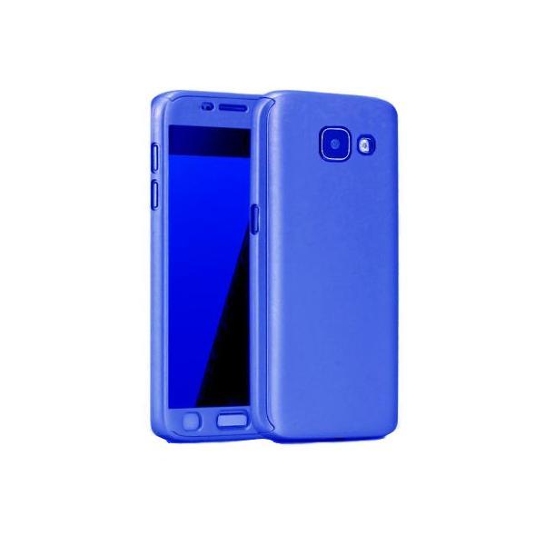 Husa Full Cover 360 + folie sticla Samsung Galaxy A5 (2017), Albastru