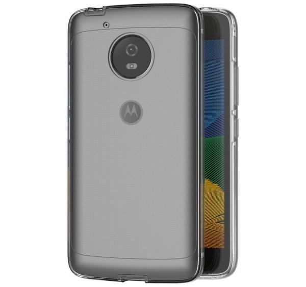 Husa Full TPU 360 fata + spate Motorola Moto G5, Gri Transparent