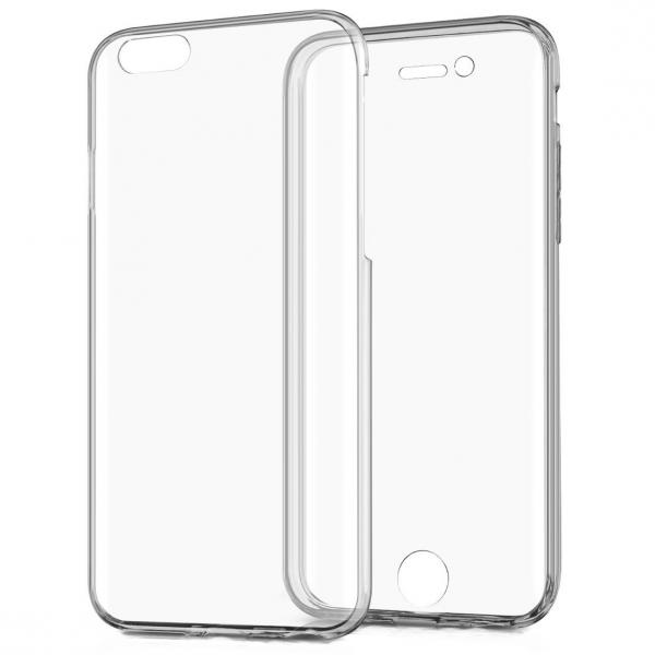 Husa Full TPU 360 (fata + spate) pentru Apple iPhone 7, Transparent