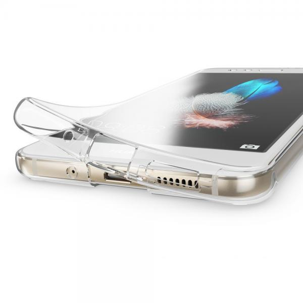 Husa Full TPU 360 (fata + spate) pentru Huawei P10 Lite, Gri Transparent