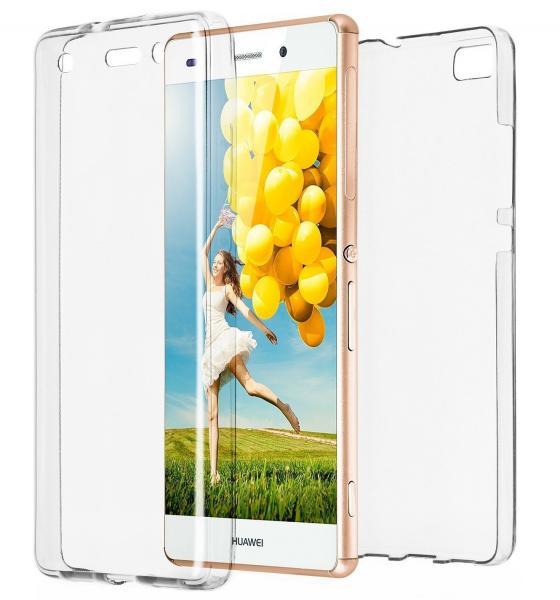 Husa Full TPU 360 (fata + spate) pentru Huawei P8 Lite, Transparent