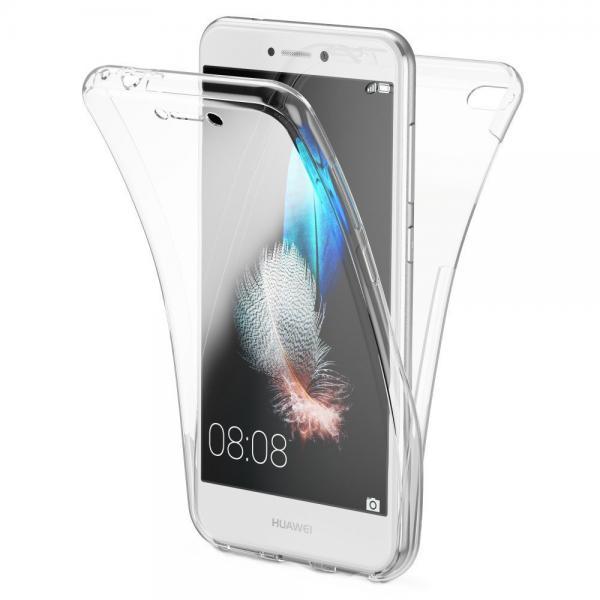 Husa Full TPU 360 (fata + spate) pentru Huawei P9 Lite 2017, Transparent