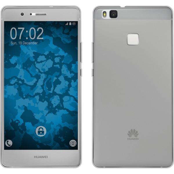 Husa Full TPU 360 (fata + spate) pentru Huawei P9 Lite, Gri Transparent