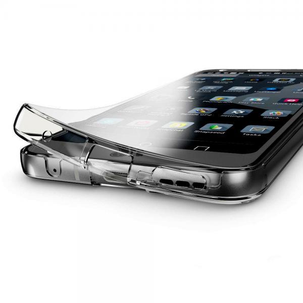 Husa Full TPU 360 (fata + spate) pentru LG G6, Gri Transparent