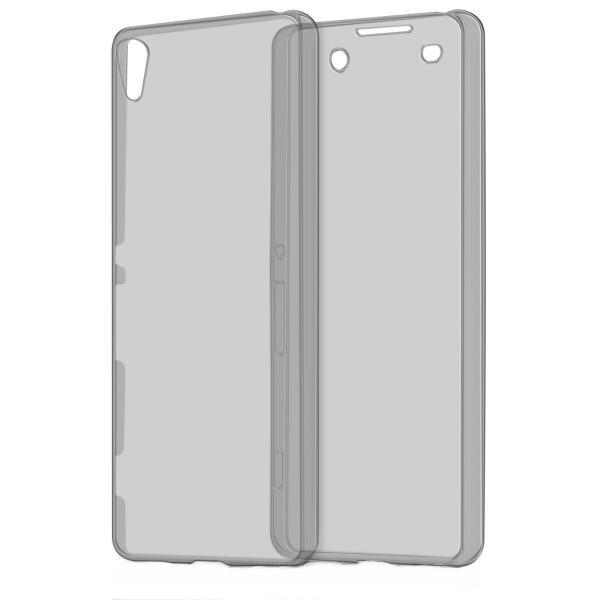 Husa Full TPU 360 (fata + spate) pentru Sony Xperia XA, Gri transparent