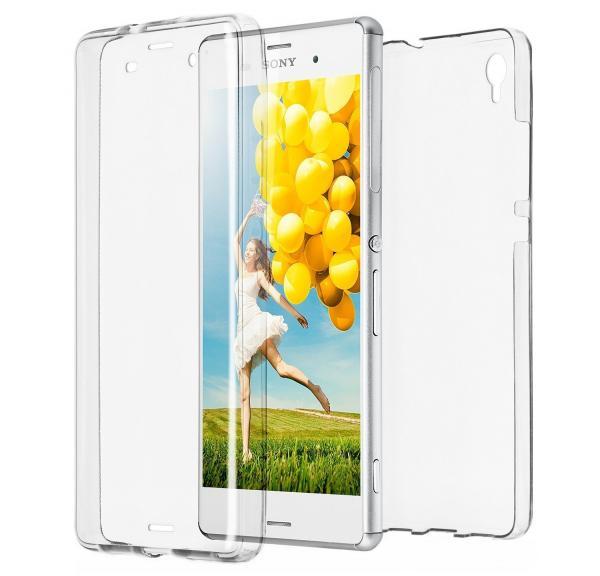 Husa Full TPU 360 (fata + spate) pentru Sony Xperia Z3, Transparent