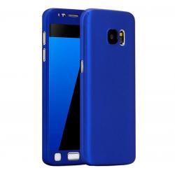 Husa Full Cover 360 + folie sticla Samsung Galaxy S7, Albastru