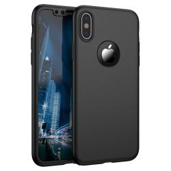 Husa Full Cover 360 iPhone X, Negru