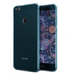 Husa Full TPU 360 (fata + spate) Huawei P10 Lite, Albastru Transparent