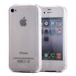 Husa Full TPU 360 (fata + spate) pentru Apple iPhone 4/4S, TPU 0.3 mm, Transparent