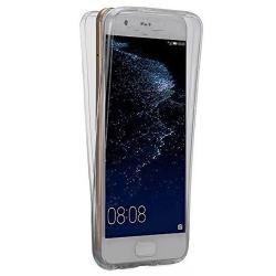 Husa Full TPU 360 (fata + spate) pentru Huawei P10 Plus, Gri Transparent
