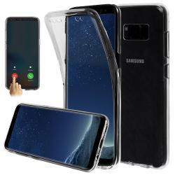 Husa Full TPU 360 (fata + spate) pentru Samsung Galaxy S8, Gri Transparent