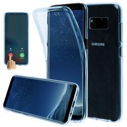 Husa Full TPU 360 (fata + spate) pentru Samsung Galaxy S8 Plus, Albastru transparent