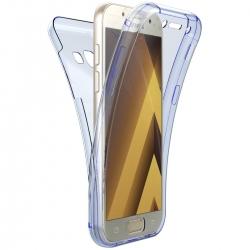 Husa Full TPU 360 (fata + spate) Samsung Galaxy A3 (2017), Albastru Transparent
