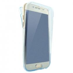 Husa Full TPU 360 (fata + spate) Samsung Galaxy A5 (2017), Albastru Transparent