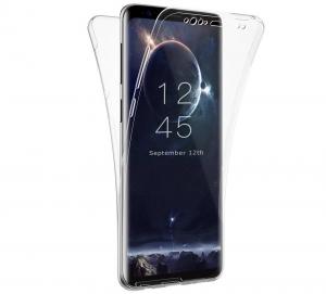 Husa Full TPU 360 fata + spate Samsung Galaxy S9 Plus, Transparent