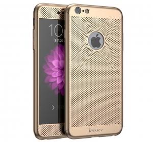 Husa iPaky 360 Air + folie sticla iPhone 6 Plus / 6S Plus, Gold