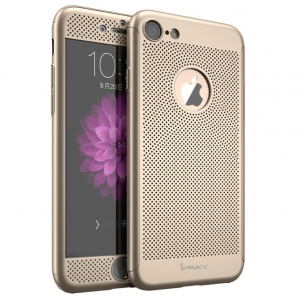 Husa iPaky 360 Air + folie sticla iPhone 7, Gold