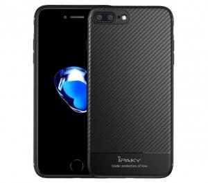Husa iPaky Carbon Fiber iPhone 7 Plus, Negru