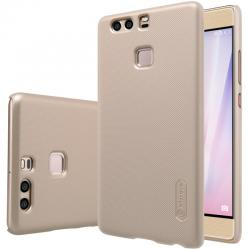 Husa Nillkin Frosted + folie protectie Huawei P9, Gold
