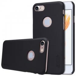 Husa Nillkin Frosted + folie protectie iPhone 7, Negru