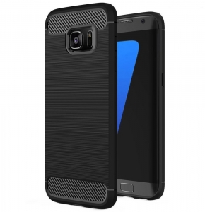 Husa Samsung Galaxy S7 Edge iPaky Fiber, Negru